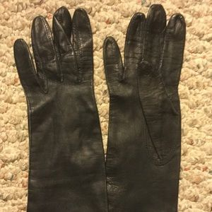 Leather Ladies WOMENS Opera Black Gloves VINTAGE